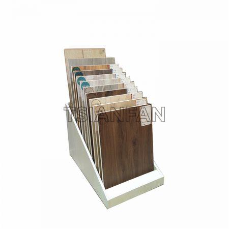 Simple wooden floor display stand