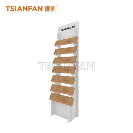 White Metal Floor Tile Display Stand ME002-03
