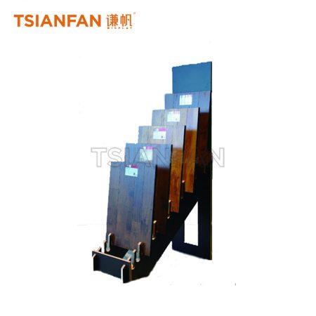 Simple Wooden Floor Display Rack Use In Exhibition Hall ME003-08