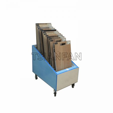 Simple Wooden Floor Display Stand With Pulley M012