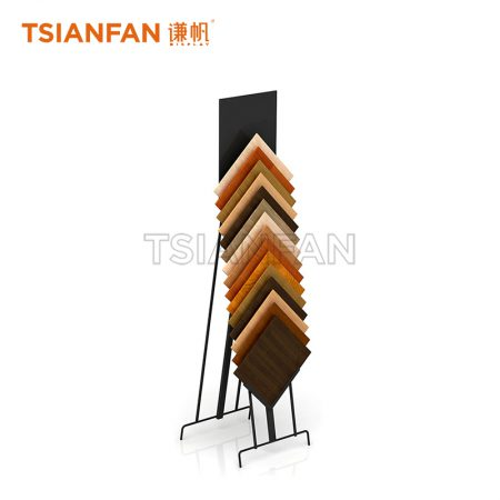 Factory Selling Hardwood Floor Waterfall Display Stand ME015-02
