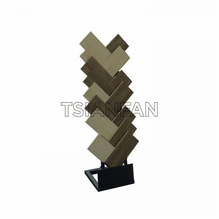 Factory Selling Hardwood Floor Waterfall Display Stand ME015-04