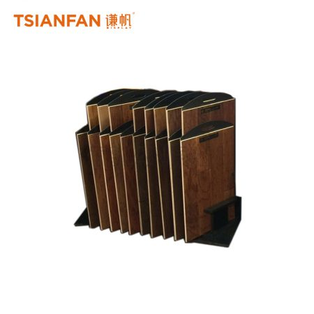 Solid Wood Floor And Hardwood Floor Display Stand With Slot ME016-14