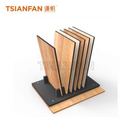 Simple Wooden Floor Display Rack With 6 Slots, Portable Wooden Floor Display Rack ME016-15