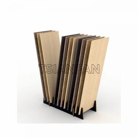 Solid Wood Floor Display Stand With Card Slot, Wood Floor Display Board, Portable Wood Floor Display Board ME016-22