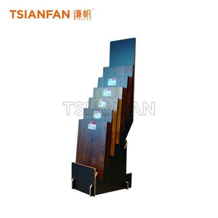 Floor Stacked Simple Wooden Floor Display Rack For Exhibition Hall ME17-4
