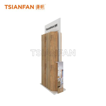 Wood Floor Custom Metal Display Stand Promotion ME024