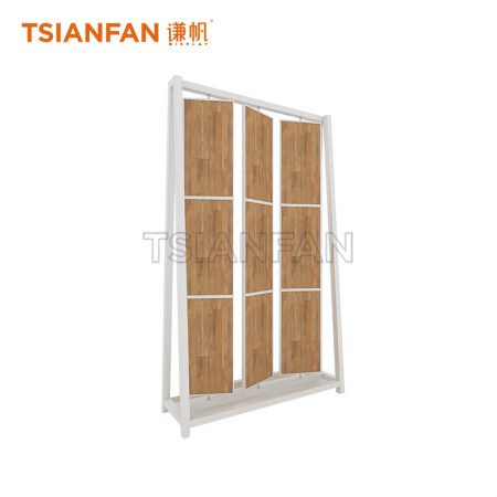 Wooden Floor Template Flip Display Rack ME022