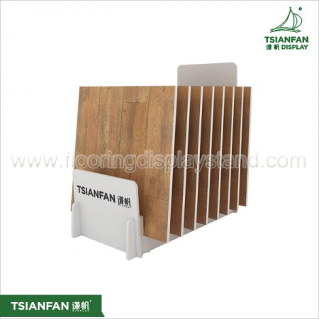 High-end Wooden Floor Sample Multi-purpose Display Rack Manufacturer ME028