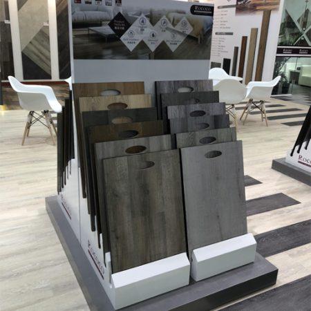 Simple Wooden Floor Display Rack, Laminate Flooring Display Rack WC2052