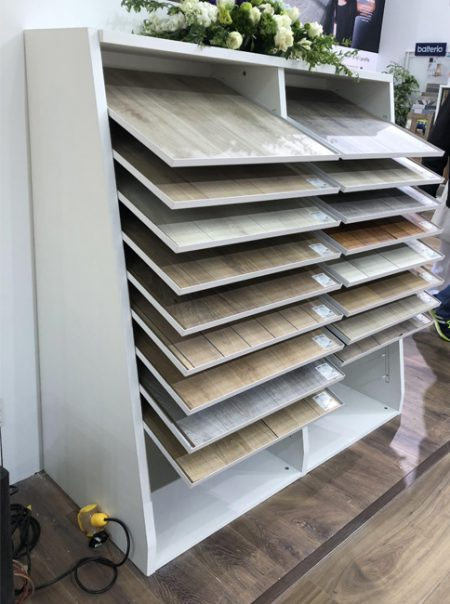 Mullican Flooring Display, Flooring Display Stands Uk WC2043