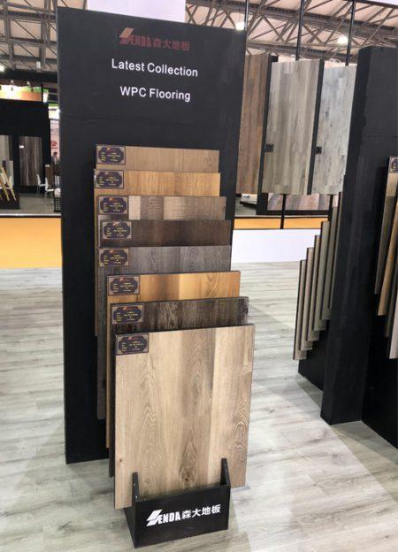 Smoked Oak Display Flooring,Mullican Flooring Display Rack WC2039