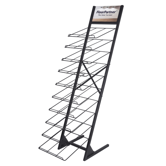 Customized Design Standing Wood Floor Metal Display Rack WC2066