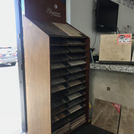 Wooden Floor Display Cabinets For Hall Display Hardwood Floor Display Racks WC2072