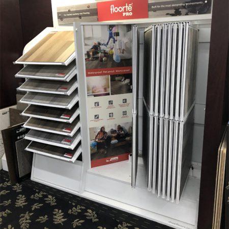 Wooden Floor Flip Floor Display Rack Canada WC2067