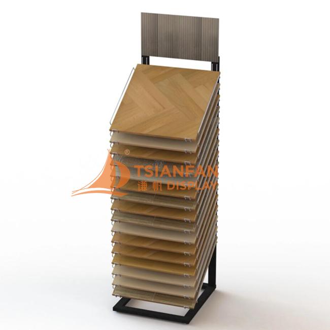 16 Hardwood Floor Display Stand Standing Metal Shelf Floor Tile Display Rack WC2075
