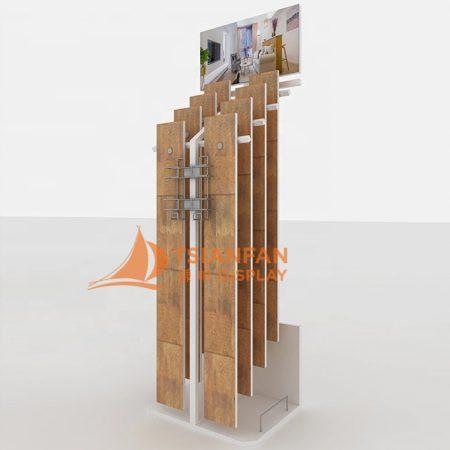 Wholesale New Style Metal Laminate Pvc Wooden Floorings Tile Displays Racks WC2077