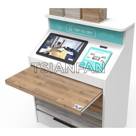 Wooden Floor Sliding Chest Of Drawers Display, Wooden Floor Counter Display