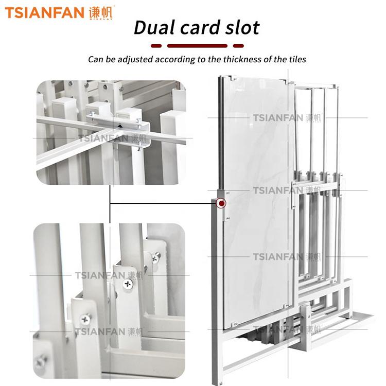 Push-pull Carousel Floor Display Rack
