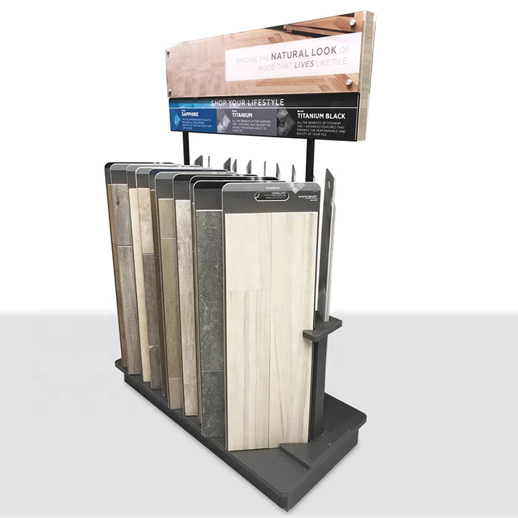 Hot Sale Laminated Wood Floor Tile Metal Display Stand