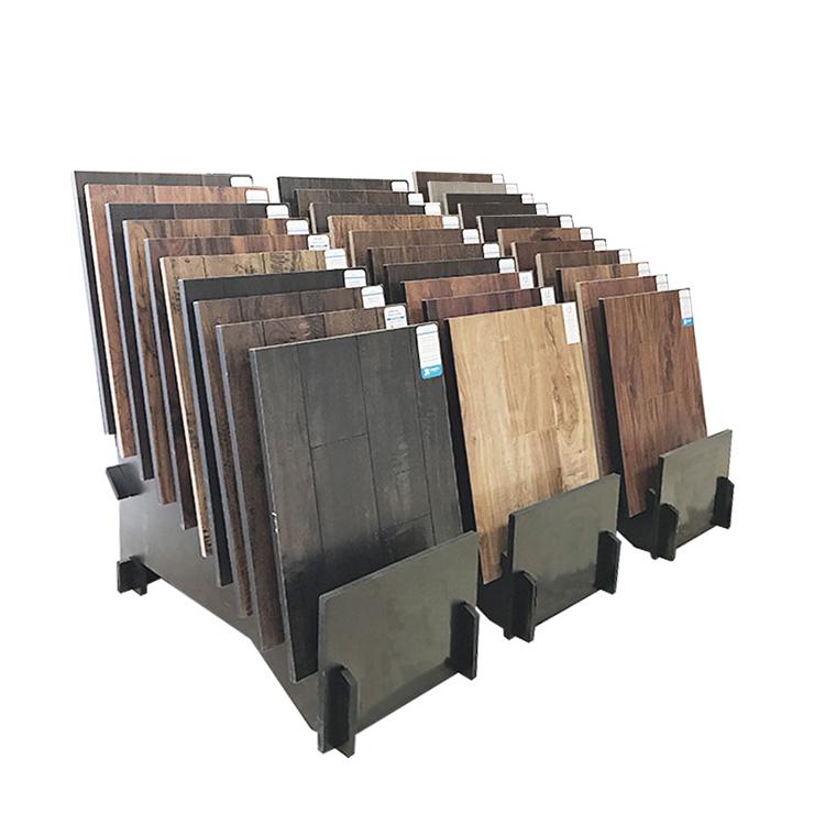 Hot Sale Composite Wood Floor Sample Display Stand Tile Countertop Rack