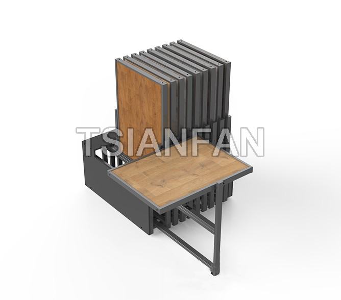 Wooden Floor Rotating Display Rack WC21115
