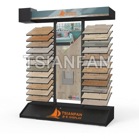 Metal Material Hardwood Floor Display Rack WC21117