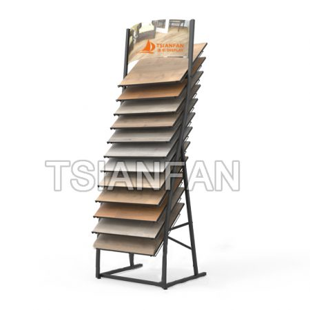 Wooden Floor Metal Waterfall Display Stands WC21118